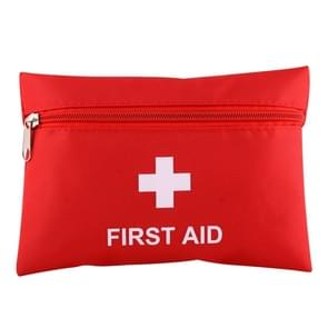 2 PCS Portable First Aid Kit with Bag, Includes Sanitizing Pads, Gauzes, Scissors,Band-aids and Tweezers, Random Color Delivery