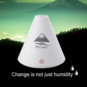 SX698 Mini vulkanische vorm Touch schakelaar USB LED Light Air luchtbevochtiger voor Home & Office(White)