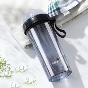 JOYROOM JR-CY274 600ml Dream Series afneembare twee-kleur stro ontwerp paar Cup (zwart)