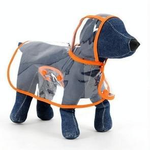 Waterdichte transparante huisdier regenjas regen slijtage Poncho  XS  harnas borst kledingmaat: 22cm  terug lengte: 18cm  huisdier gewicht: 1.5kg Below(Orange)
