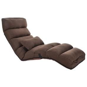C1 Lazy Couch Tatami Opvouwbare Single Recliner Er erker Creatieve Leisure Floor Chair  Grootte: 175x56x20cm (Donkere koffie)
