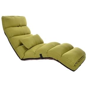 C1 Lazy Couch Tatami Foldable Single Recliner Bay Window Creative Leisure Floor Chair, Size: 175x56x20cm(Green)