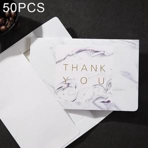 50 PCS Creative Festival Universal Marbling Greeting Cards with Envelope (THANK YOU)
