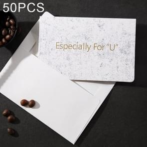 50 PCS Creative Festival Universal Marbling Greeting Cards with Envelope (Especially For U)