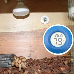 Digital Round Shaped Reptile Box Centigrade Thermometer & Hygrometer with Screen Display (Blue)