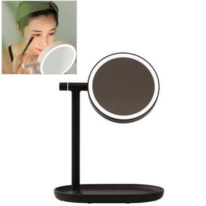 MUID Multi-functional Touch Switch Retractable Makeup Mirror Desk Lamp(Black)