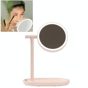 MUID Multi-functional Touch Switch Retractable Makeup Mirror Desk Lamp(Pink)