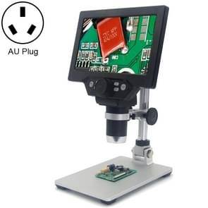 G1200 7 inch LCD Screen 1200X Portable Electronic Digital Desktop Stand Microscope, AU Plug