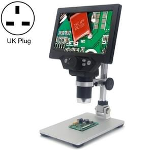 G1200 7 inch LCD Screen 1200X Portable Electronic Digital Desktop Stand Microscope, UK Plug