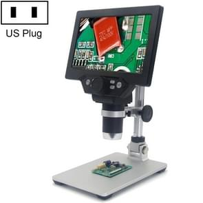 G1200 7 inch LCD Screen 1200X Portable Electronic Digital Desktop Stand Microscope, US Plug
