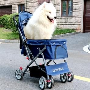 DODOPET Outdoor Shockproof Portable Foldable Dog Cat Pet Trolley (Blue)