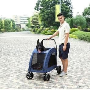 DODOPET Outdoor Portable Foldable Large Dog Pet Trolley (Blue)