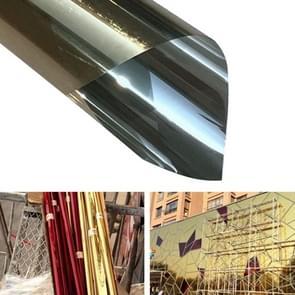 UV Reflective One Way Privacy Decoration Glass Window Film Sticker, Width: 90cm, Length: 1m(Gold)