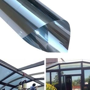 UV Reflective One Way Privacy Decoration Glass Window Film Sticker, Width: 50cm, Length: 1m(Silver)