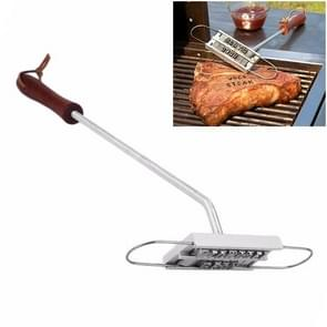 CJ07062 Outdoor Camping BBQ Stainless Steel Barbecue Tools Barbecue Fire Brand Letter ABC Barbecue Seal Stamp Die