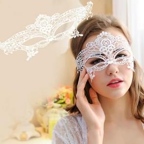 Maskerade Party Dance Sexy Lady Lace koningin Mask(White)