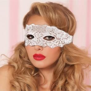 Maskerade Party Dance Sexy Lady Lace Delight Mask(White)