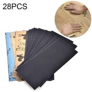 28 PCS LANHU Grit 120-3000 Wet And Dry Polishing Grinding Sandpaper,Size: 22.9 x 9.1cm