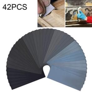 42 PCS LANHU Grit 120-3000 Wet And Dry Polishing Grinding Sandpaper,Size: 22.9 x 9.1cm