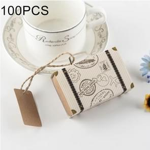 100 PCS originaliteit bruiloft mini koffer suiker vak  grootte: 8 * 5 * 2.5 cm