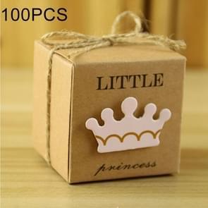 100 PCS Europese stijl bruiloft prinses patroon suiker vak  grootte: 5.3 * 5.3 * 5.3 cm
