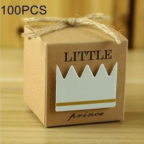 100 PCS Europese stijl bruiloft Prins patroon suiker vak  grootte: 5.3 * 5.3 * 5.3 cm