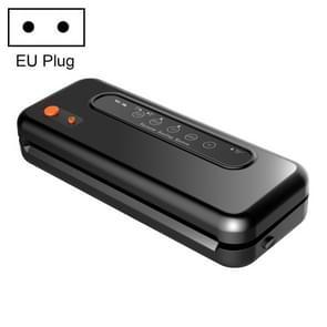 Huishoudelijke commerciële voedsel vacuüm kunststof verpakkingsmachine sealer nauwere machine  EU plug (zwart)