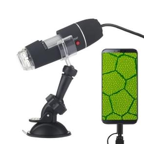 1600X Magnifier HD 0.3MP Image Sensor 2 in 1 USB Digital Microscope with 8 LED & Professional Stand