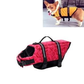 Huisdier Saver  hond reflecterende strepen  zwemvest Vest voor zwemmen varen surfen  grootte: M (roze bot)