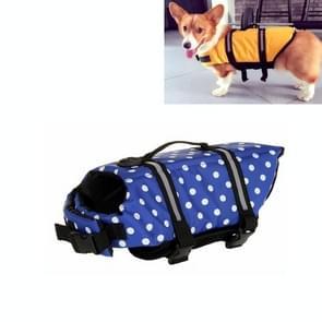 Huisdier Saver  hond reflecterende strepen  zwemvest Vest voor zwemmen varen surfen  grootte: M (blauwe stip)