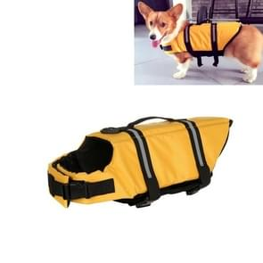 Huisdier Saver  hond reflecterende strepen  zwemvest Vest voor zwemmen varen surfen  grootte: L(Yellow)