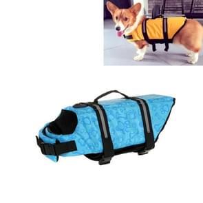 Huisdier Saver  hond reflecterende strepen  zwemvest Vest voor zwemmen varen surfen  grootte: L (blauwe bot)