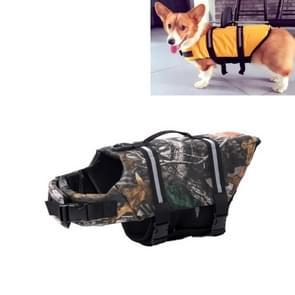 Huisdier Saver  hond reflecterende strepen  zwemvest Vest voor zwemmen varen surfen  grootte: L (Camouflage)