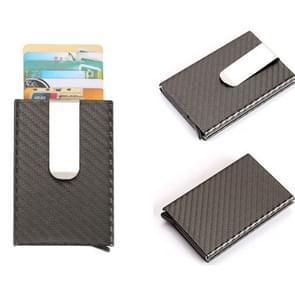 Carbon Fiber Antimagnetic Solid Color Credit Card Holder Money Clip Wallet, Size: 10*6.6cm(Grey)