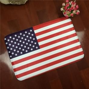 US Flag Pattern Rectangular Bathroom Living Room Bedroom Door Flannel Anti-skid Household Foot Pad Carpet, Size: 50cm x 80cm