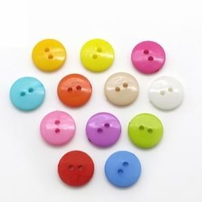 1000 PCS geassorteerde gemengde kleur 2 gaten knoppen voor het naaien van DIY ambachten kinderen handleiding knop schilderen  willekeurige kleur  Diameter: 11.5mm