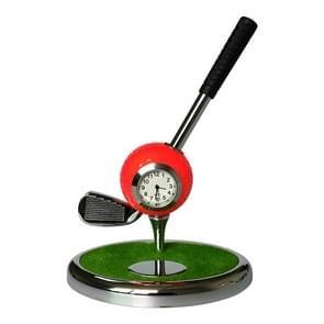 Metal Ball Pen Creative Golf Club Clock Iron Pen Holder (Orange)