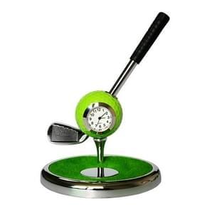 Metal Ball Pen Creative Golf Club Clock Iron Pen Holder (Green)