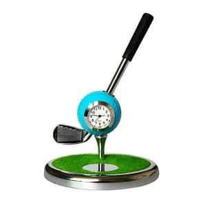 Metal Ball Pen Creative Golf Club Clock Iron Pen Holder (Blue)