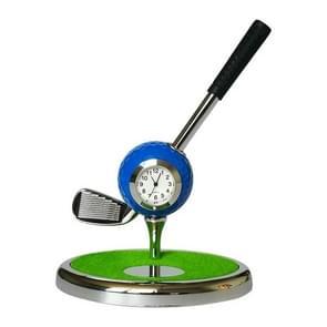 Metal Ball Pen Creative Golf Club Clock Iron Pen Holder (Sapphire Blue)