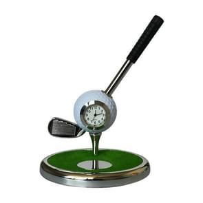 Metal Ball Pen Creative Golf Club Clock Iron Pen Holder (White)