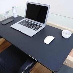 Multifunctionele Business dubbele dubbelzijdig PVC leer Pad toetsenbord Pad tabel Mat Computer Desk muismat  maat: 80 x 40cm (zwart-rood)