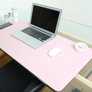 Multifunctionele Business dubbel zijdig PVC lederen muismat toetsenbord pad tabel mat computer bureau mat  grootte: 80 x 40cm