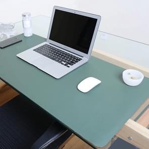 Multifunctionele Business dubbel zijdig PVC lederen muismat toetsenbord pad tabel mat computer bureau mat  grootte: 80 x 40cm (groen + zilver)