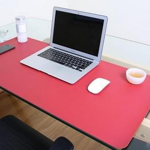 Multifunctionele Business dubbel zijdig PVC lederen muismat toetsenbord pad tabel mat computer bureau mat  grootte: 120 x 60cm (rood + geel)