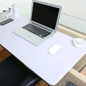 Multifunctionele Business dubbel zijdig PVC lederen muismat toetsenbord pad tabel mat computer bureau mat  grootte: 120 x 60cm (zilvergrijs)