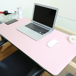 Multifunction Business PVC Leather Mouse Pad Keyboard Pad Table Mat Computer Desk Mat, Size: 80 x 40cm(Pink)