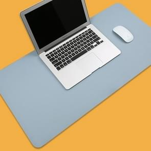 Multifunction Business PVC Leather Mouse Pad Keyboard Pad Table Mat Computer Desk Mat, Size: 80 x 40cm(Baby Blue)