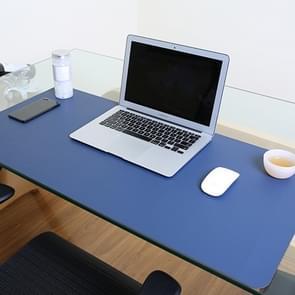 Multifunctionele Business PVC lederen muismat toetsenbord pad tabel mat computer bureau mat  grootte: 120 x 60cm (Sapphire Blue)