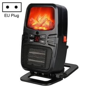 Flame Heater Mini Household Wall-mounted Desktop Radiator Warmer Electric Heater, EU Plug